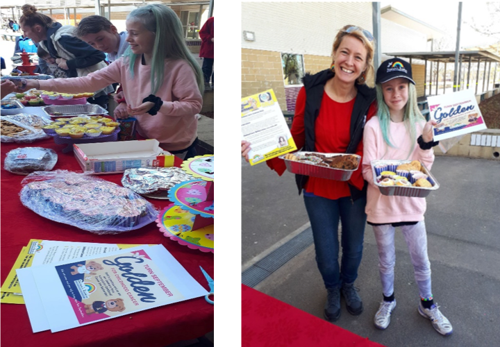 Harrison School Cake Stall For Childhood Cancer Awareness Month