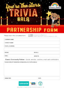 Youre The Stars 2021 Partnership Form