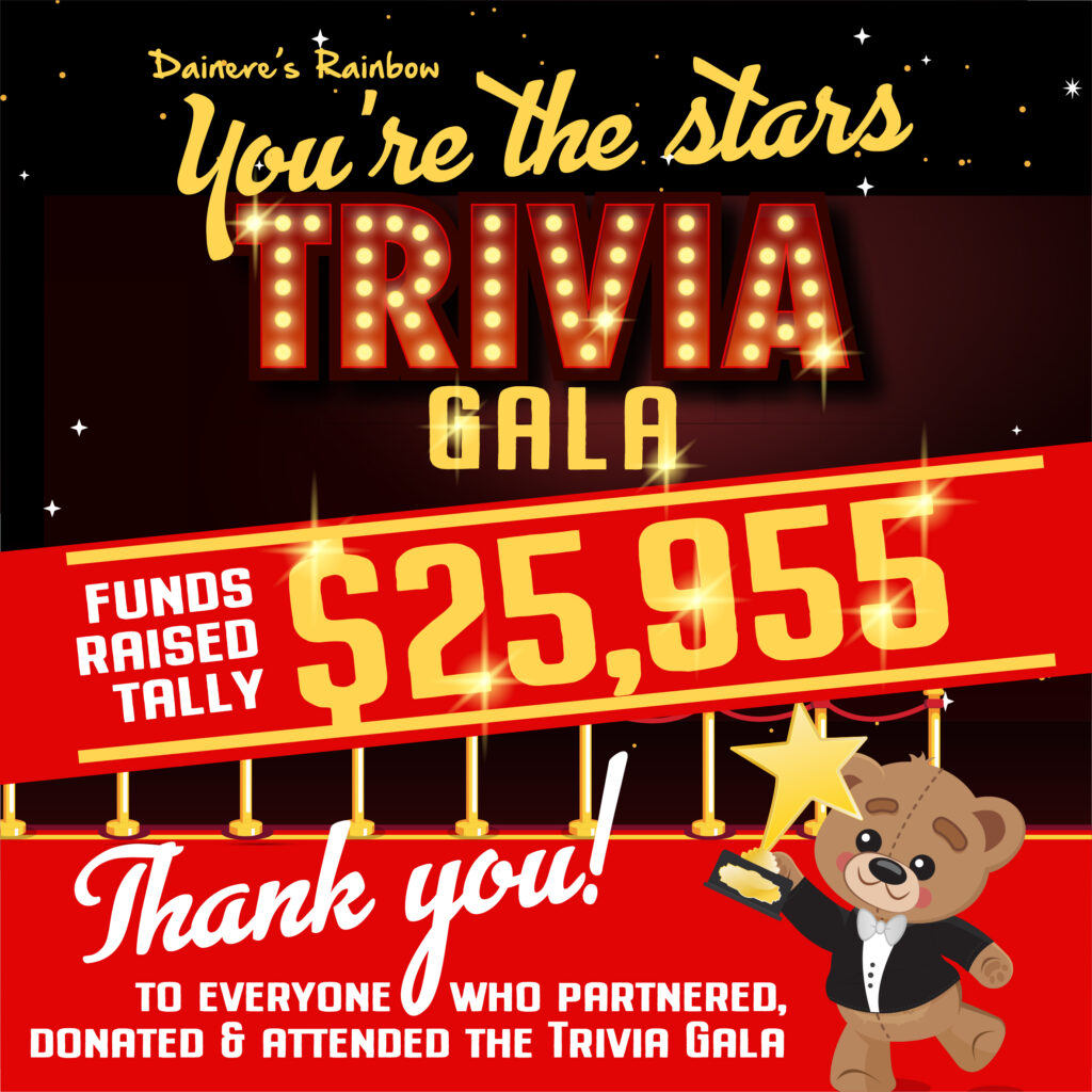 Thank you! You're the stars Trivia Gala 2021 raised $25,955