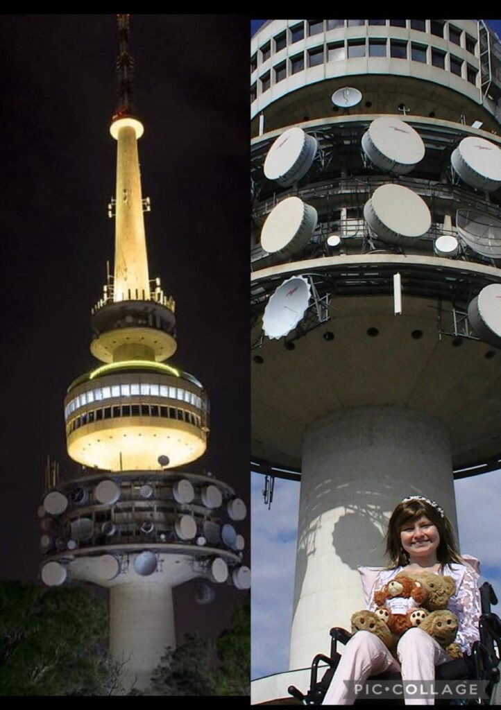 Telstra Tower In Canberra Lights Up Gold For Childhood Cancer Awareness Month